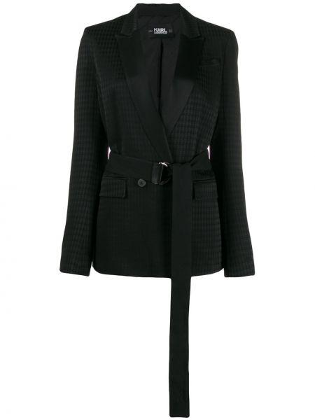 Куртка с карманами черная Karl Lagerfeld