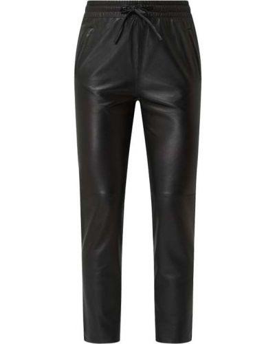 Czarne spodnie skorzane Oakwood