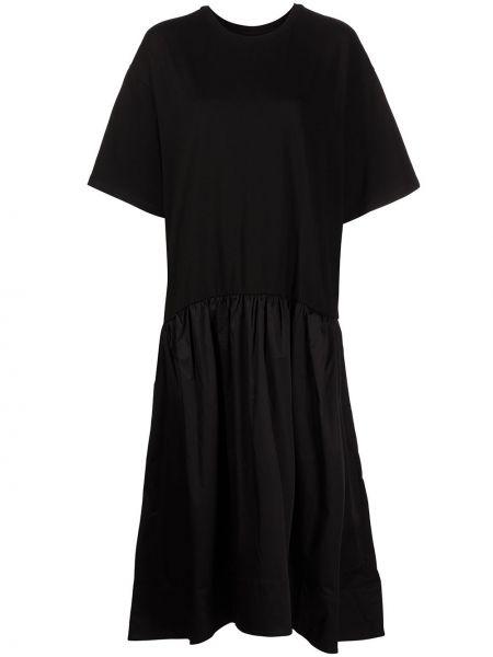Трикотажное платье миди - черное Cynthia Rowley