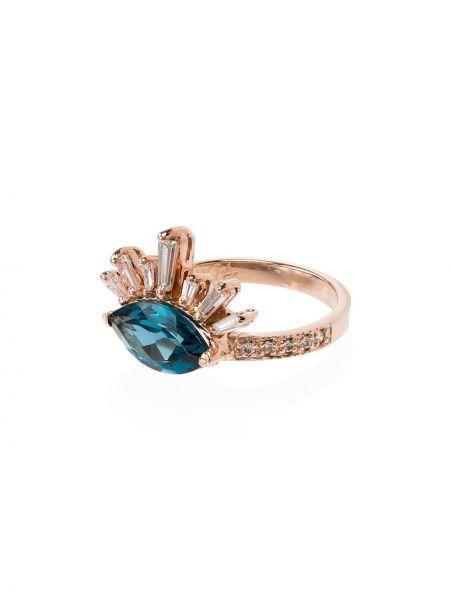 Розовое кольцо с топазом Jacquie Aiche
