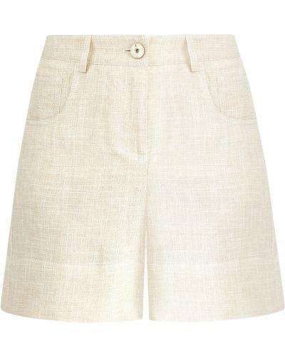 Короткие шорты деловые льняные Lorena Antoniazzi