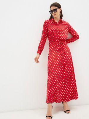 Красное платье осеннее Trendyangel