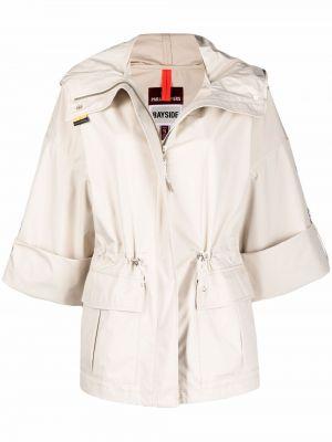 Короткая куртка с капюшоном на молнии с нашивками Parajumpers