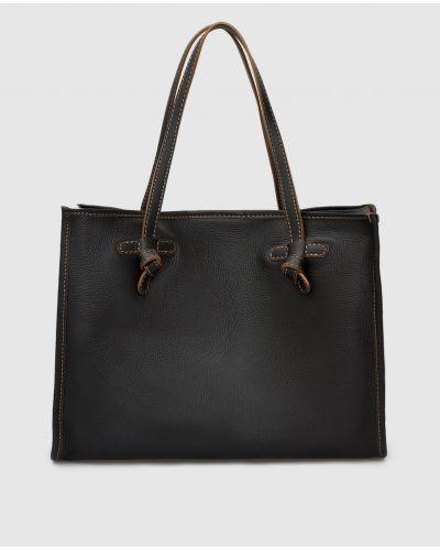 Кожаная сумка шоппер - черная Gianni Chiarini