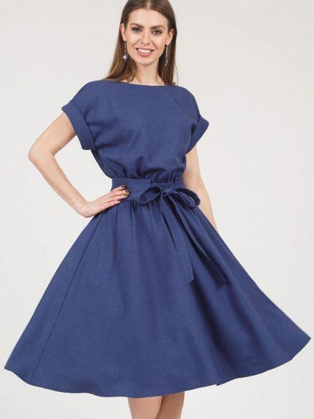 Платье миди синее оливковый Olivegrey