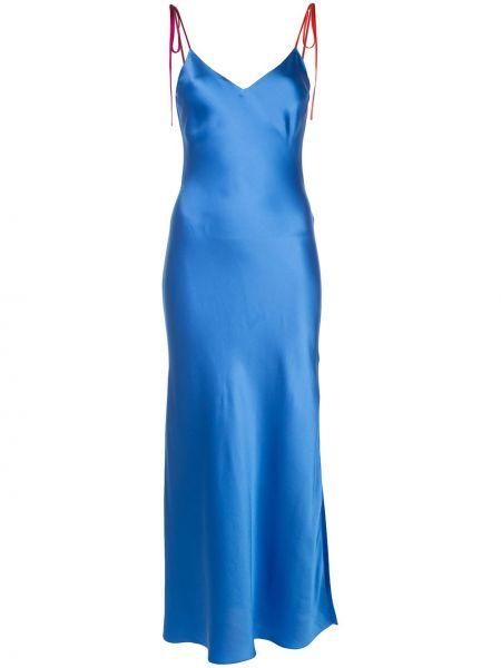 Niebieska sukienka z jedwabiu Dannijo