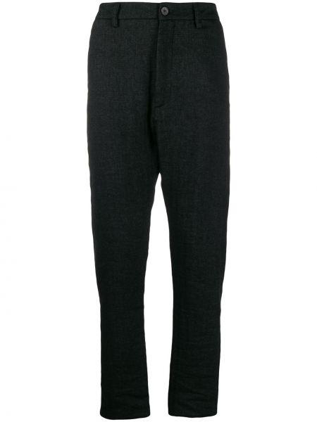 Черные брюки на пуговицах с карманами оверсайз Poème Bohémien