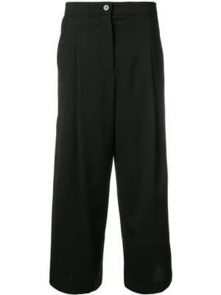 Черные укороченные брюки с карманами свободного кроя Mcq Alexander Mcqueen