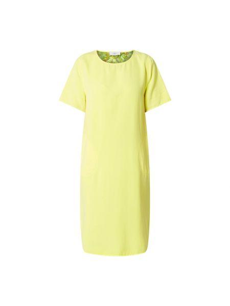 Sukienka rozkloszowana krótki rękaw - żółta Blonde No. 8