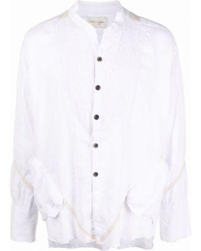 Biała koszula z frędzlami Greg Lauren