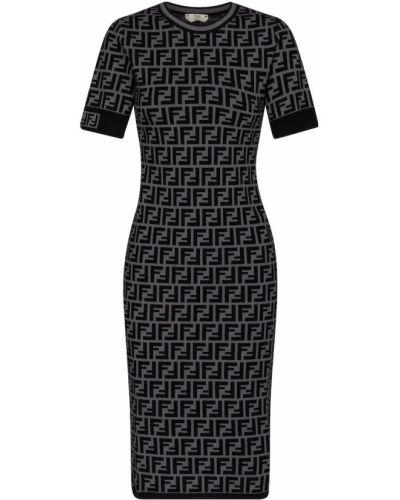 Платье миди из вискозы Fendi