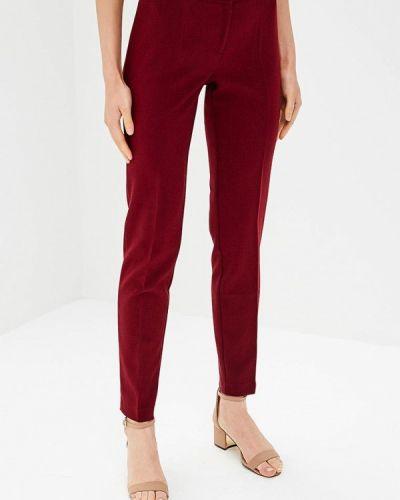 Классические брюки бордовый красный Akimbo