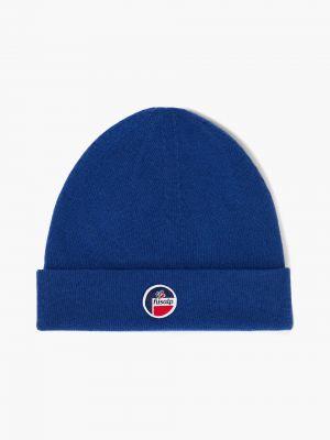 Niebieska z kaszmiru czapka Fusalp