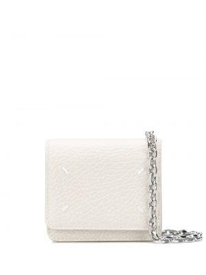 Kopertówka skórzana - biała Maison Margiela