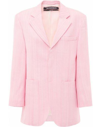 Розовый пиджак с карманами с заплатками Jacquemus