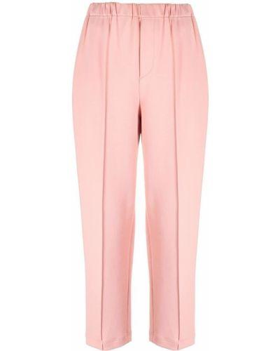 Укороченные брюки - розовые Issey Miyake