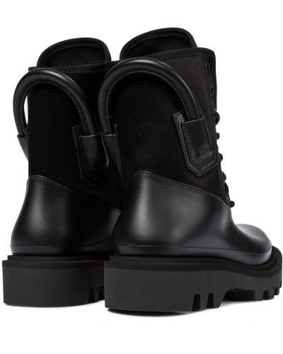 Ażurowy włókienniczy czarny buty Givenchy