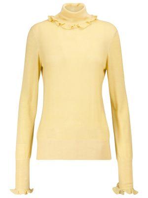 Żółty sweter wełniany Victoria Beckham