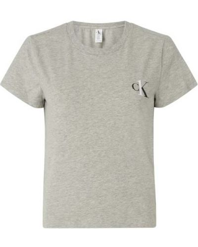 Piżama bawełniana krótki rękaw z printem Ck One