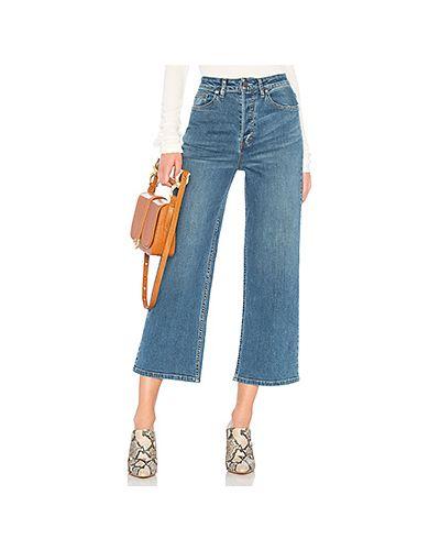 Широкие джинсы с эффектом потертости на пуговицах Free People