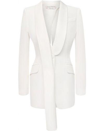 Белый пиджак с подкладкой из вискозы Alexander Mcqueen