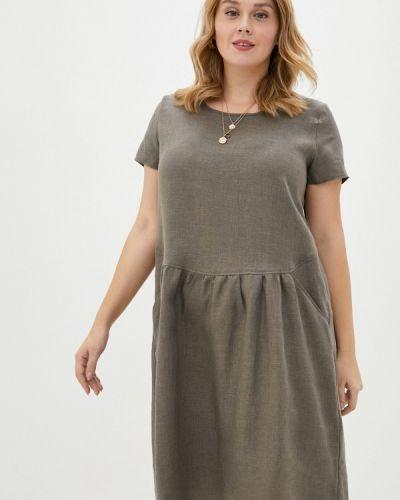 Коричневое прямое платье Gabriela
