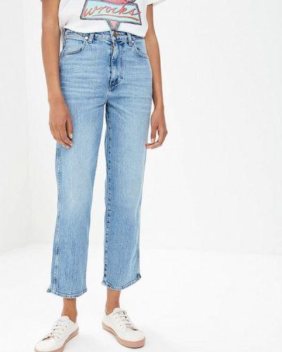 Голубые прямые джинсы Wrangler