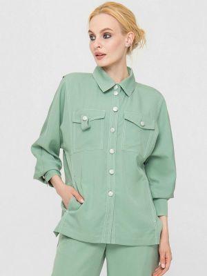 Зеленая весенняя блузка Lo
