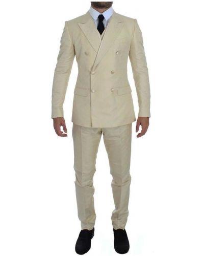 Biały garnitur Dolce And Gabbana