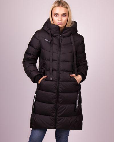 Пальто на молнии - черное Clasna