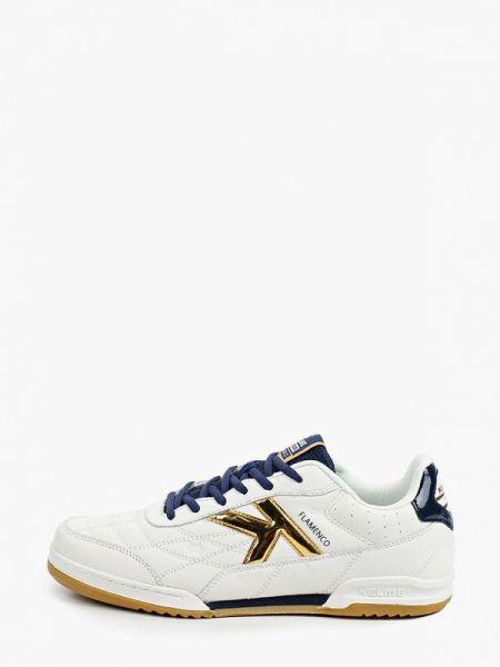 Белые кожаные кроссовки Kelme
