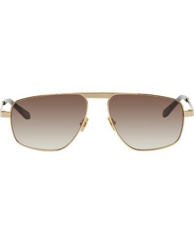Brązowe złote okulary Belstaff