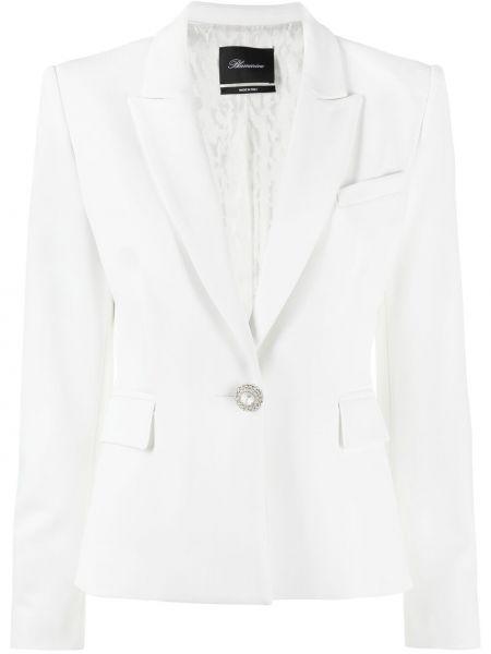 Белый классический пиджак с карманами из вискозы Blumarine