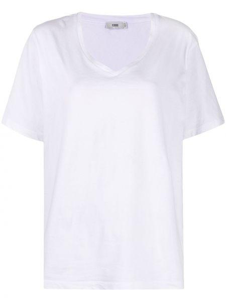 Белая футболка оверсайз с вырезом Closed