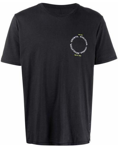 T-shirt z printem - czarna Rag & Bone