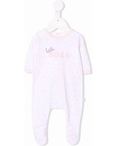 Piżama z długimi rękawami - biała Boss Kidswear