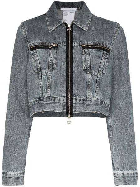 Джинсовая куртка на молнии на пуговицах Helmut Lang