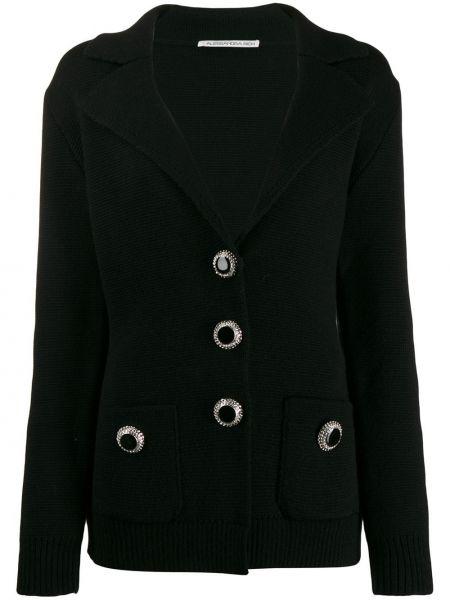 Черный пиджак с манжетами Alessandra Rich