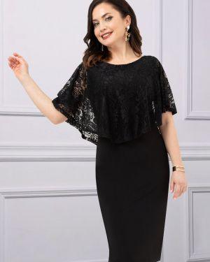 Вечернее кружевное черное вечернее платье Charutti