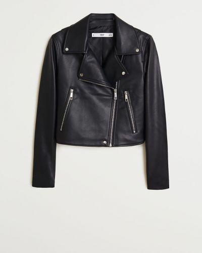 Черная куртка с капюшоном с подкладкой Mango