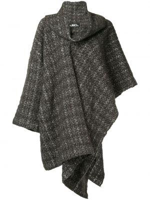 Коричневое шерстяное пальто с воротником винтажное Issey Miyake Pre-owned