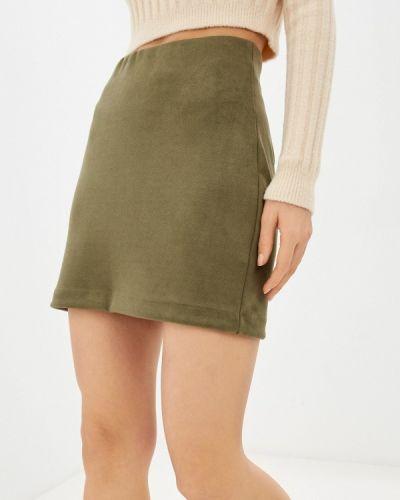 Зеленая прямая юбка карандаш Befree