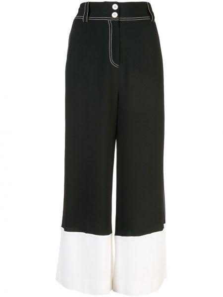 Черные брюки из вискозы Derek Lam 10 Crosby