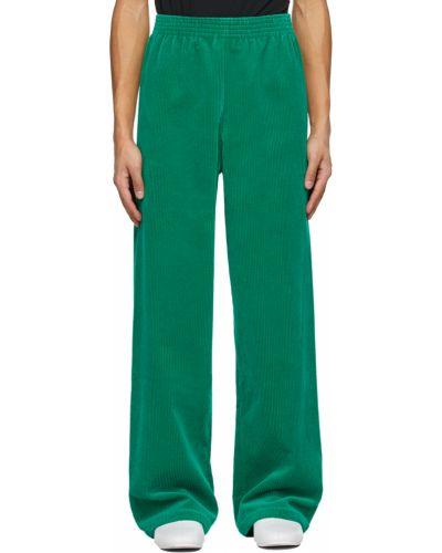 Klasyczne zielone spodnie sztruksowe Raf Simons