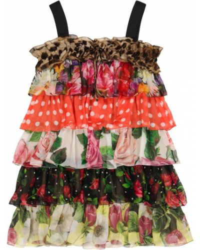 Шелковое платье Dolce & Gabbana Kids