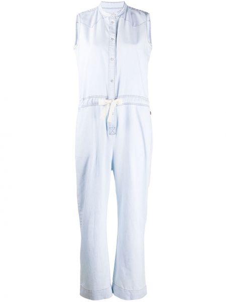 Джинсовый комбинезон с широкими брюками шерстяной Woolrich