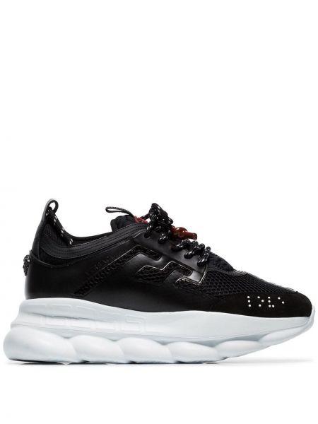 Кроссовки на платформе - черные Versace