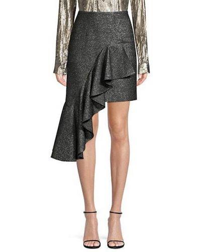 Czarna spódnica mini z falbanami elegancka Michael Kors Collection
