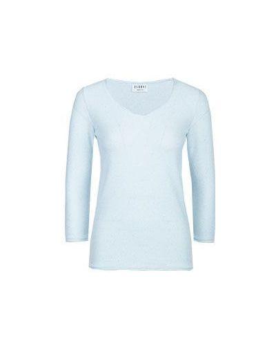 Голубая хлопковая пуловер Baroni