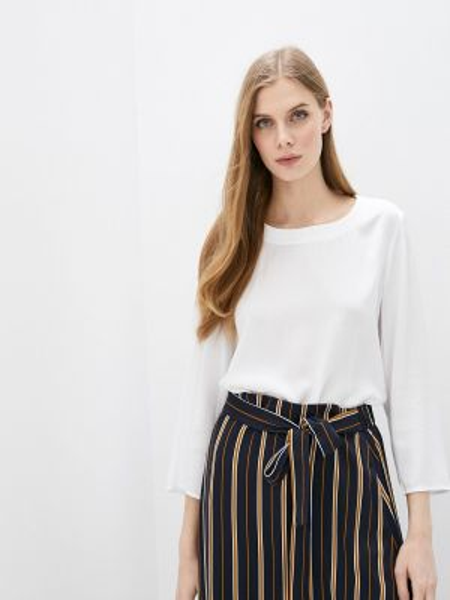 Блузка с длинным рукавом белая весенний Marc O`polo
